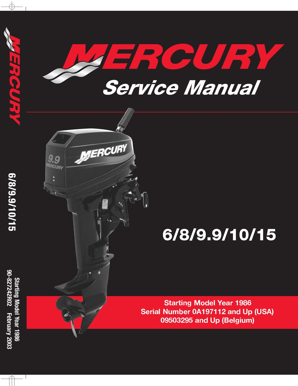 Mercury 6 Service Manual Pdf Download Manualslib