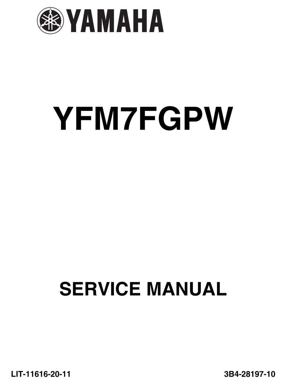 Yamaha Yfm7fgpw Service Manual Pdf Download Manualslib