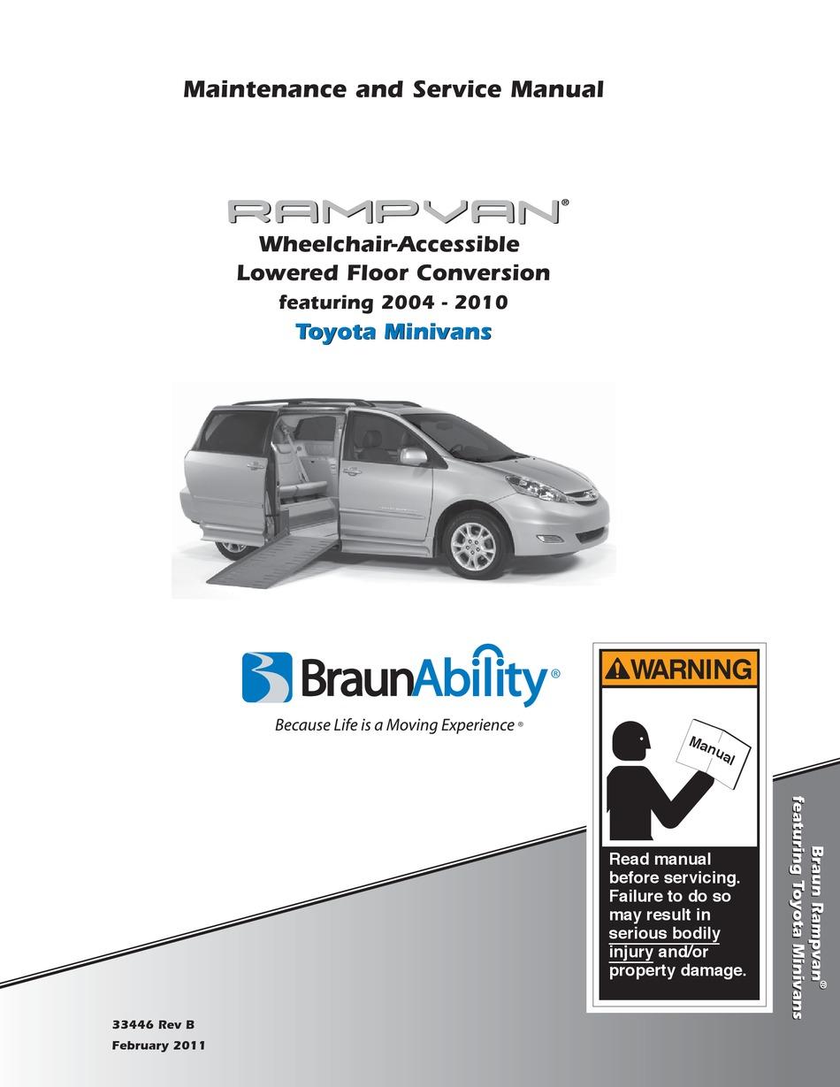 Braunability Rampvan Maintenance And Service Manual Pdf Download Manualslib