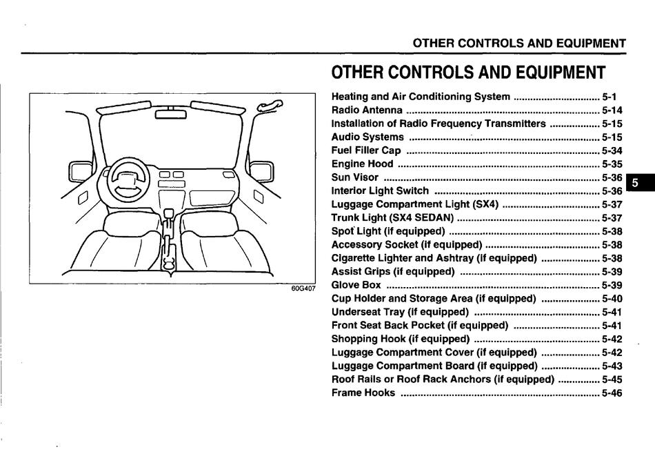 Suzuki 2009 Sx4 Owner S Handbook Manual Pdf Download Manualslib