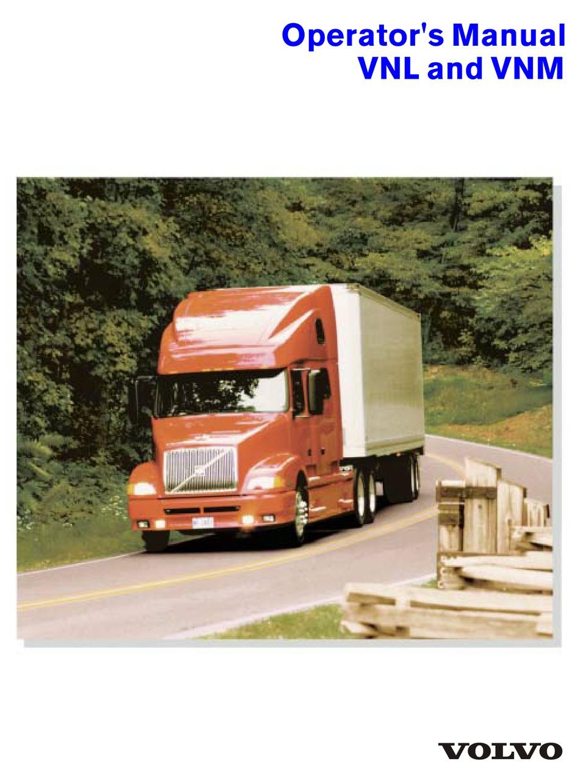 VOLVO VNL OPERATOR'S MANUAL Pdf Download | ManualsLib | Volvo Vnl Truck Wiring Diagrams Low Air |  | ManualsLib