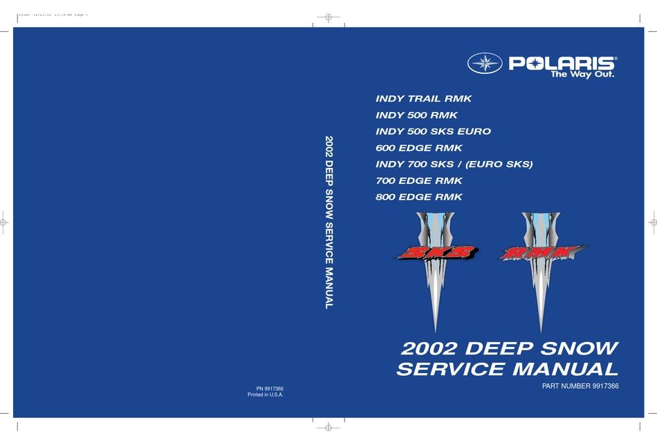Polaris Indy Trail Rmk Service Manual Pdf Download Manualslib