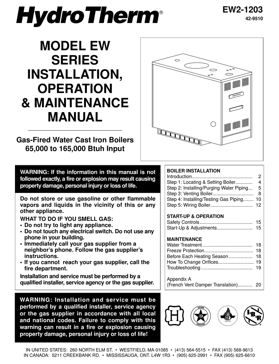 HYDROTHERM EW2-1203 INSTALLATION, OPERATION & MAINTANANCE MANUAL Pdf  Download | ManualsLib | Hydrotherm Furnace Wiring Diagram |  | ManualsLib