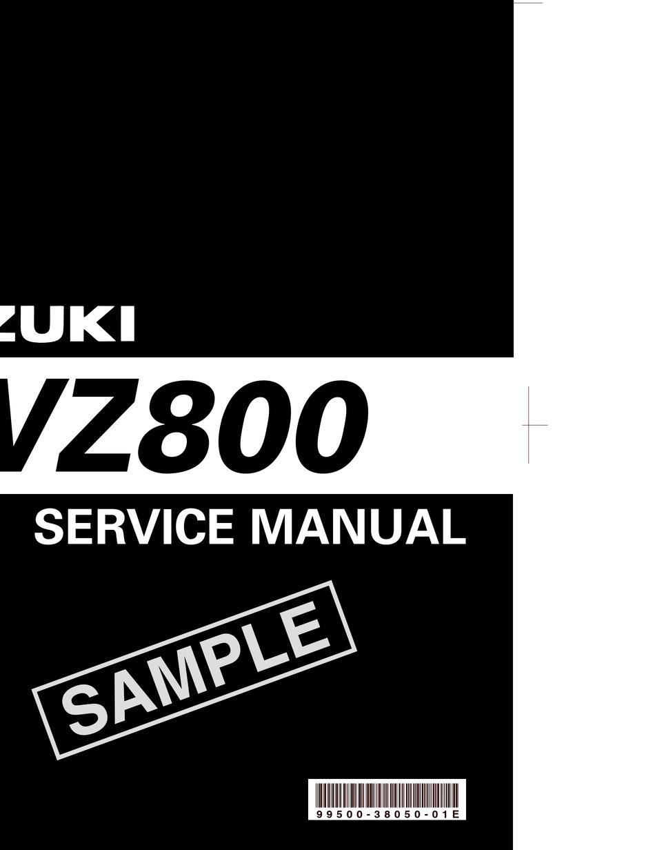 Suzuki Vz800 Service Manual Pdf Download Manualslib