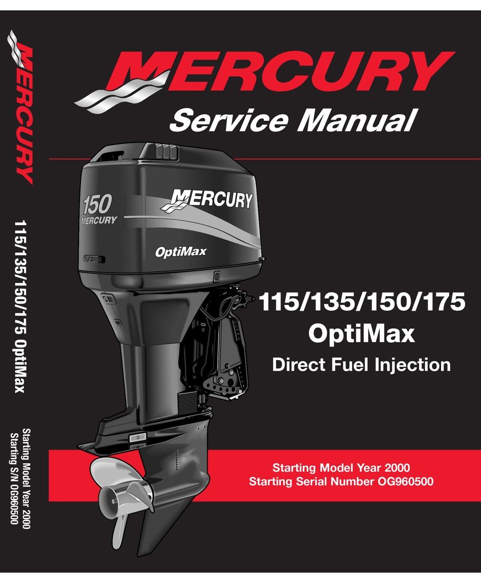 Mercury Optimax 115 Service Manual Pdf Download Manualslib