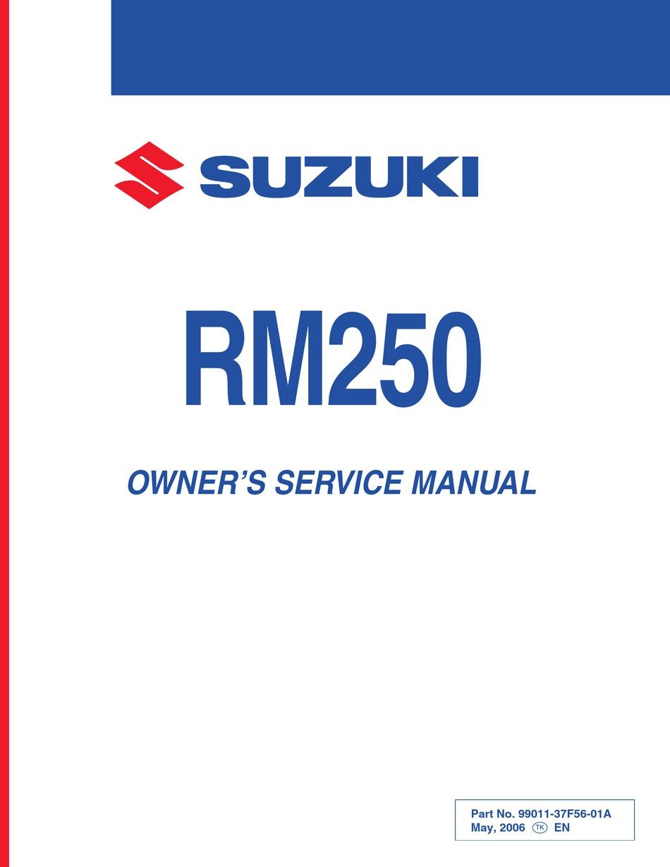 Suzuki Rm250 Owner S Service Manual Pdf Download Manualslib