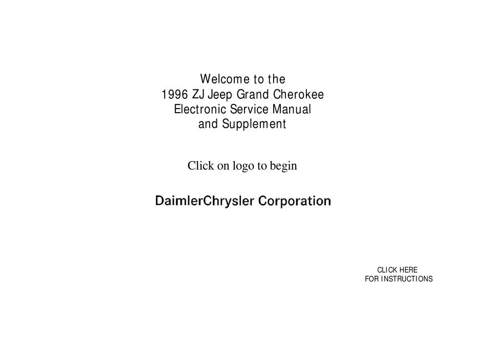 Jeep 1996 Grand Cherokee Service Manual Pdf Download Manualslib