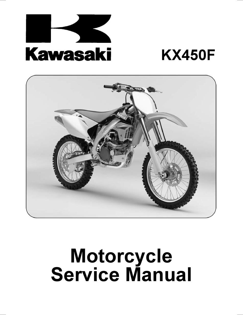 Kawasaki Kx450f Service Manual Pdf Download Manualslib