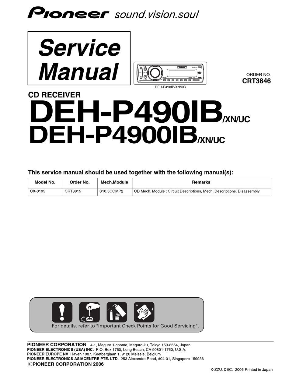 Wire Diagram Pioneer Premier Deh P480mp Product