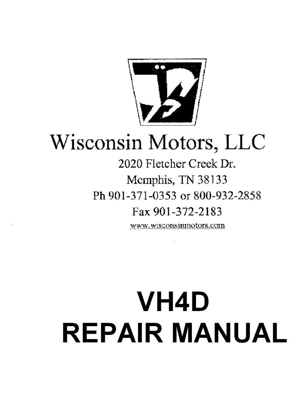 Wisconsin Vh4d Repair Manual Pdf Download Manualslib