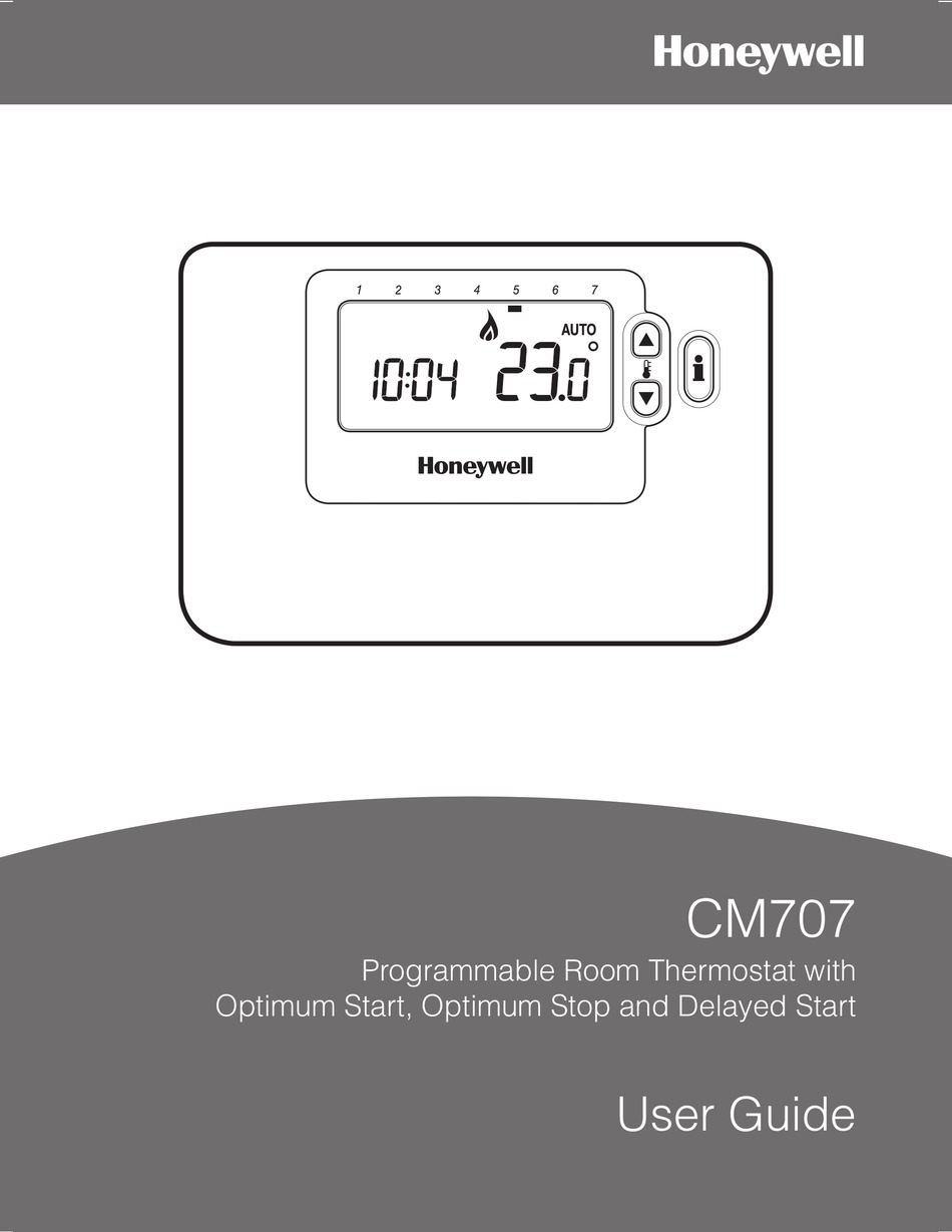 Termostato Honeywell Cm707 Digital Manual Guide