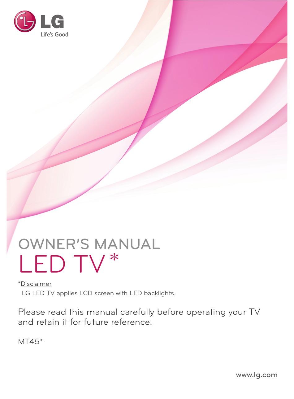 Lg 22mt45d Owner S Manual Pdf Download Manualslib