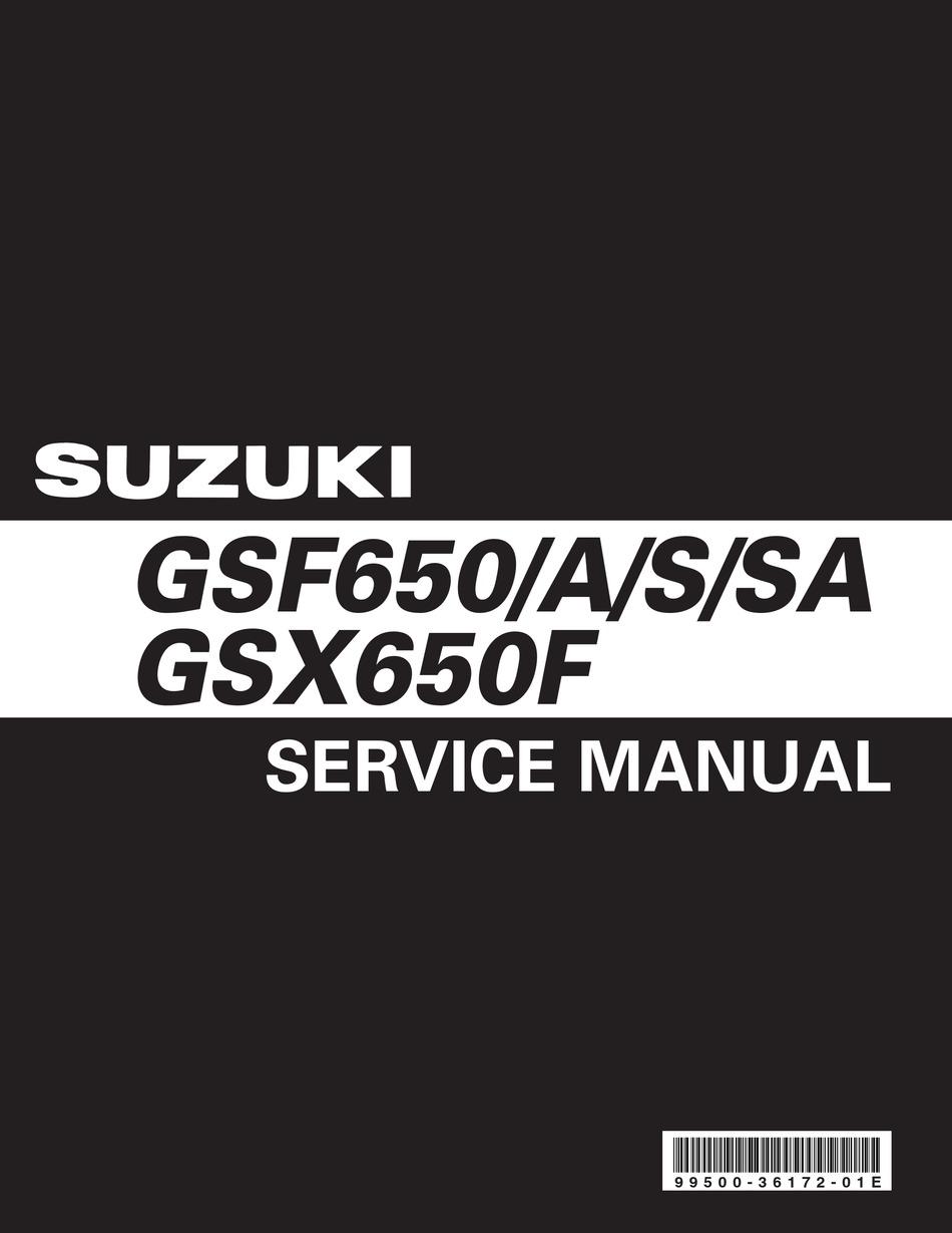 Suzuki Gsf650a Service Manual Pdf Download Manualslib