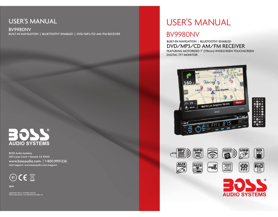 BOSS AUDIO SYSTEMS BV9980NV USER MANUAL Pdf Download | ManualsLibManualsLib