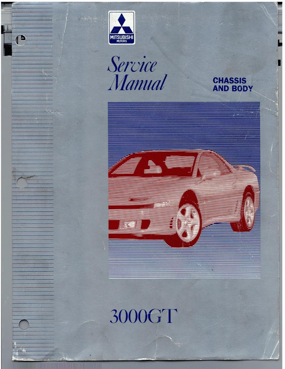 Mitsubishi 3000gt Service Manual Pdf Download Manualslib