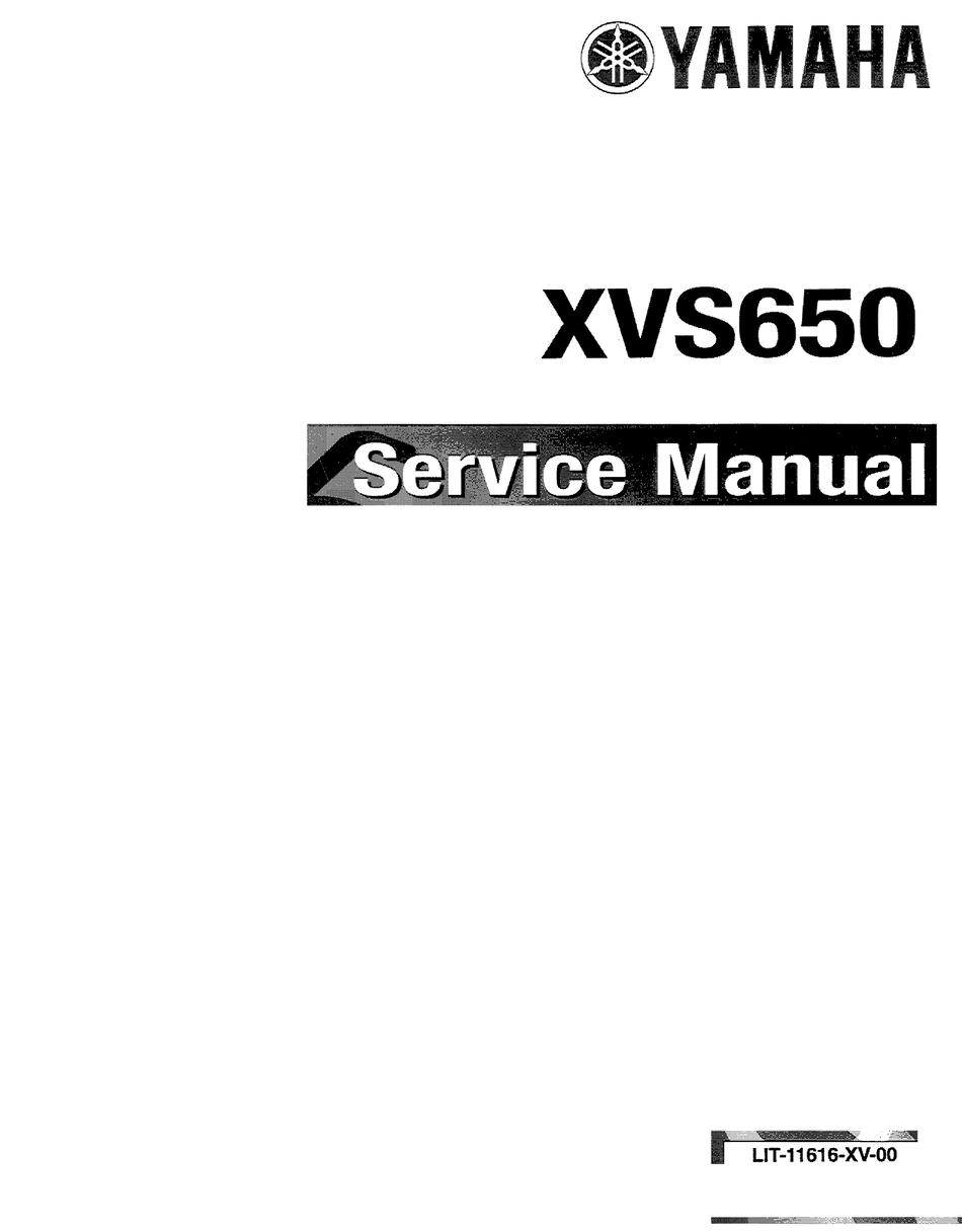 Yamaha Xvs650 Service Manual Pdf Download Manualslib