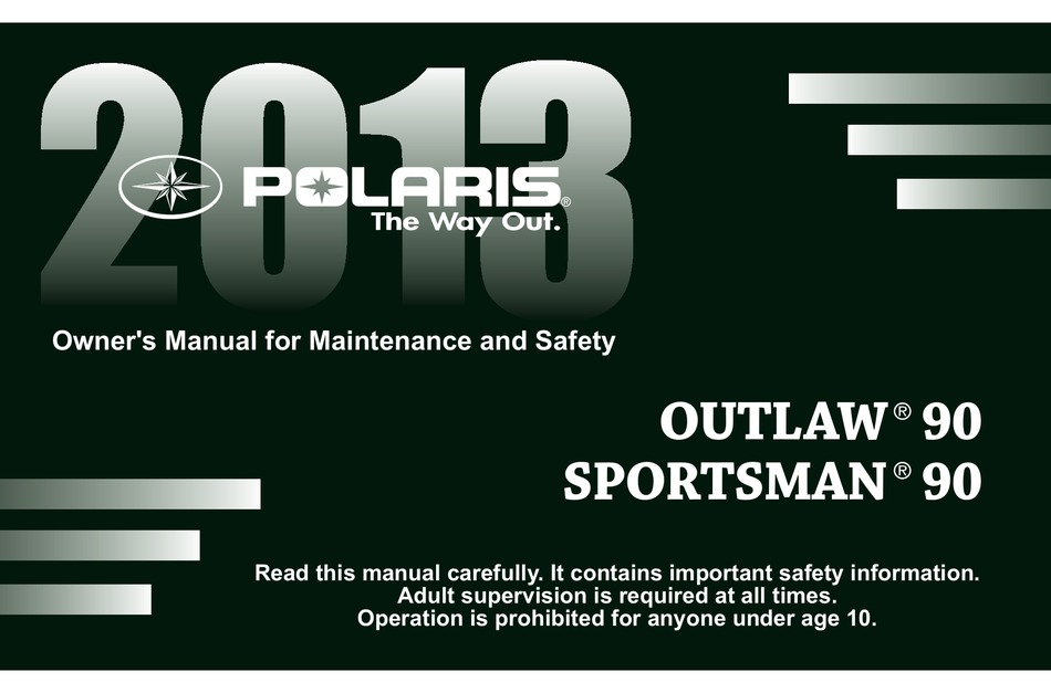 Polaris Outlaw 90 Owner S Manual Pdf Download Manualslib