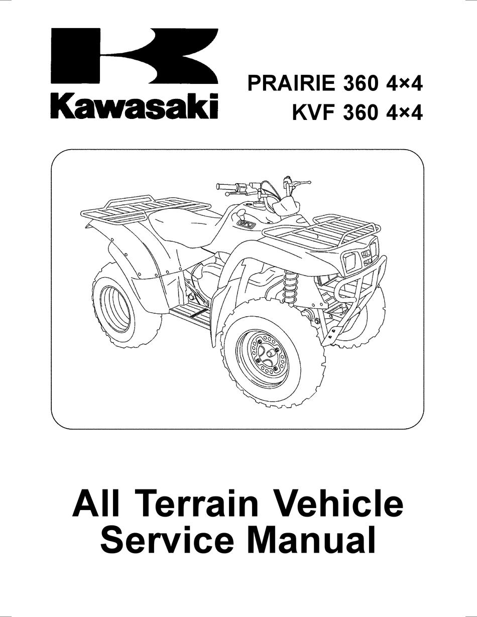 kawasaki prairie 360 4×4 service manual pdf download | manualslib  manualslib
