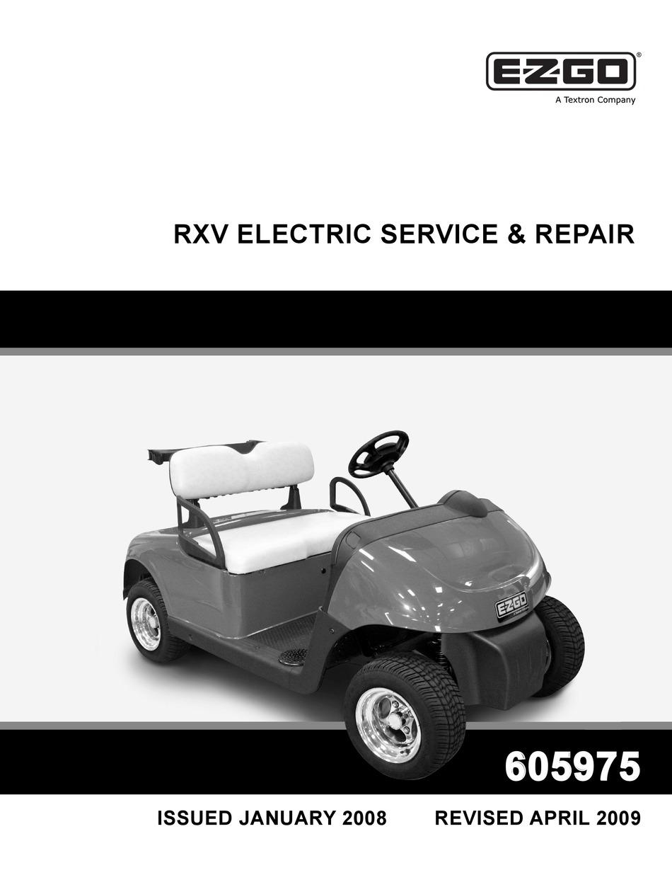 EZGO RXV ELECTRIC SERVICE \u0026 REPAIR MANUAL Pdf Download   ManualsLib [ 1229 x 950 Pixel ]