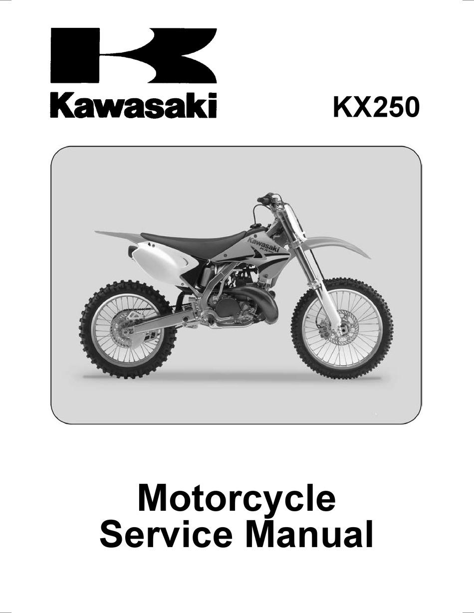 Kawasaki Kx250 Service Manual Pdf Download Manualslib