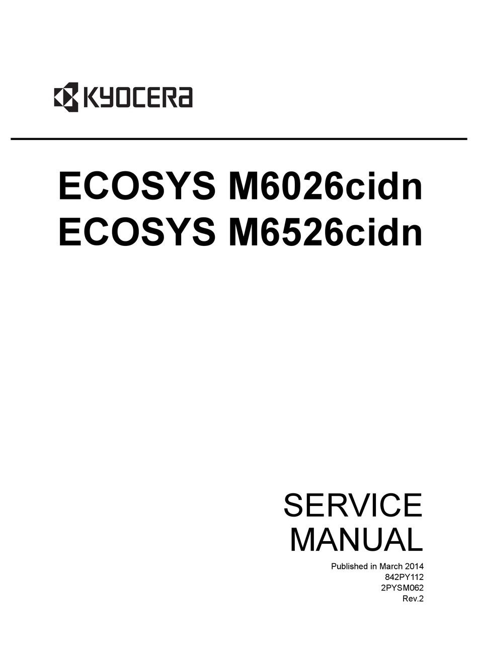 kyocera ecosys m6026cidn service manual pdf download | manualslib  manualslib