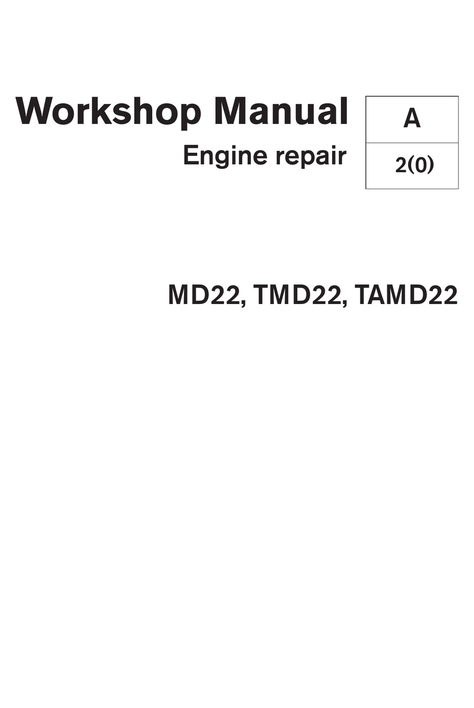 VOLVO PENTA MD22 WORKSHOP MANUAL Pdf Download | ManualsLib | Volvo Marine Camshaft Position Sensor Wiring Diagram |  | ManualsLib