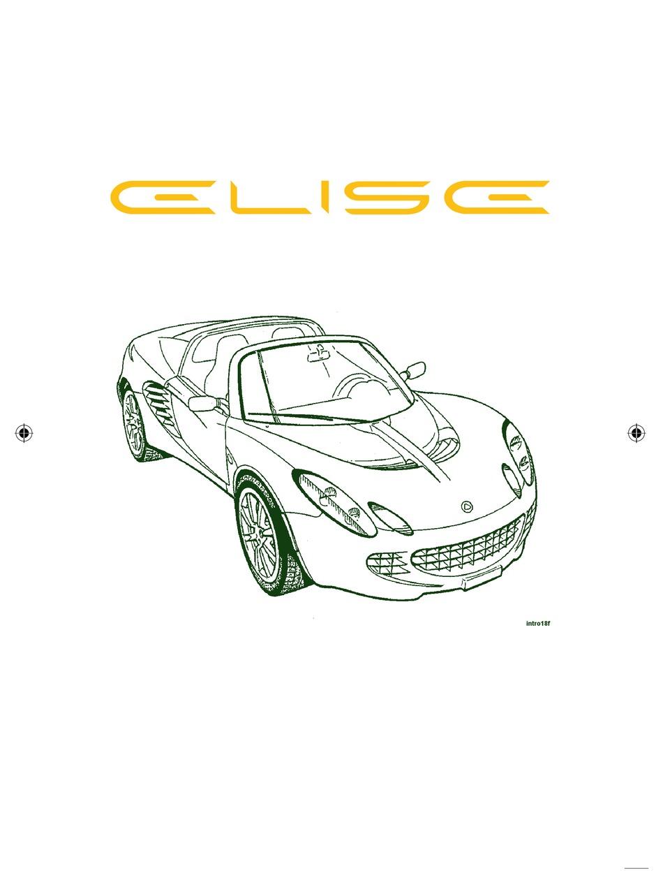 Lotus Elise 2005 Owner S Handbook Manual Pdf Download Manualslib