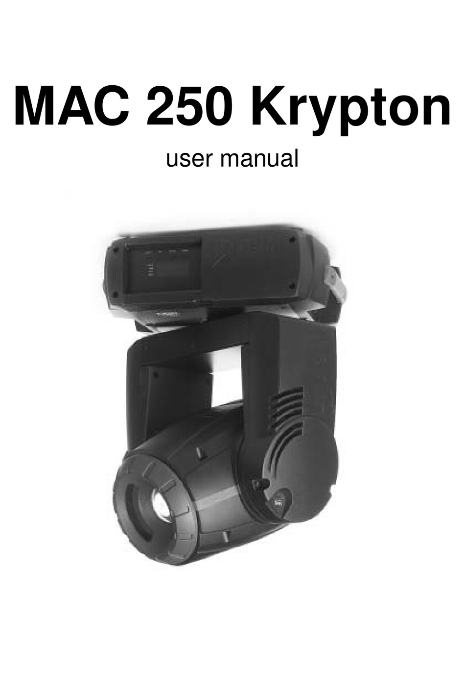 Martin Mac 250 Krypton Manual
