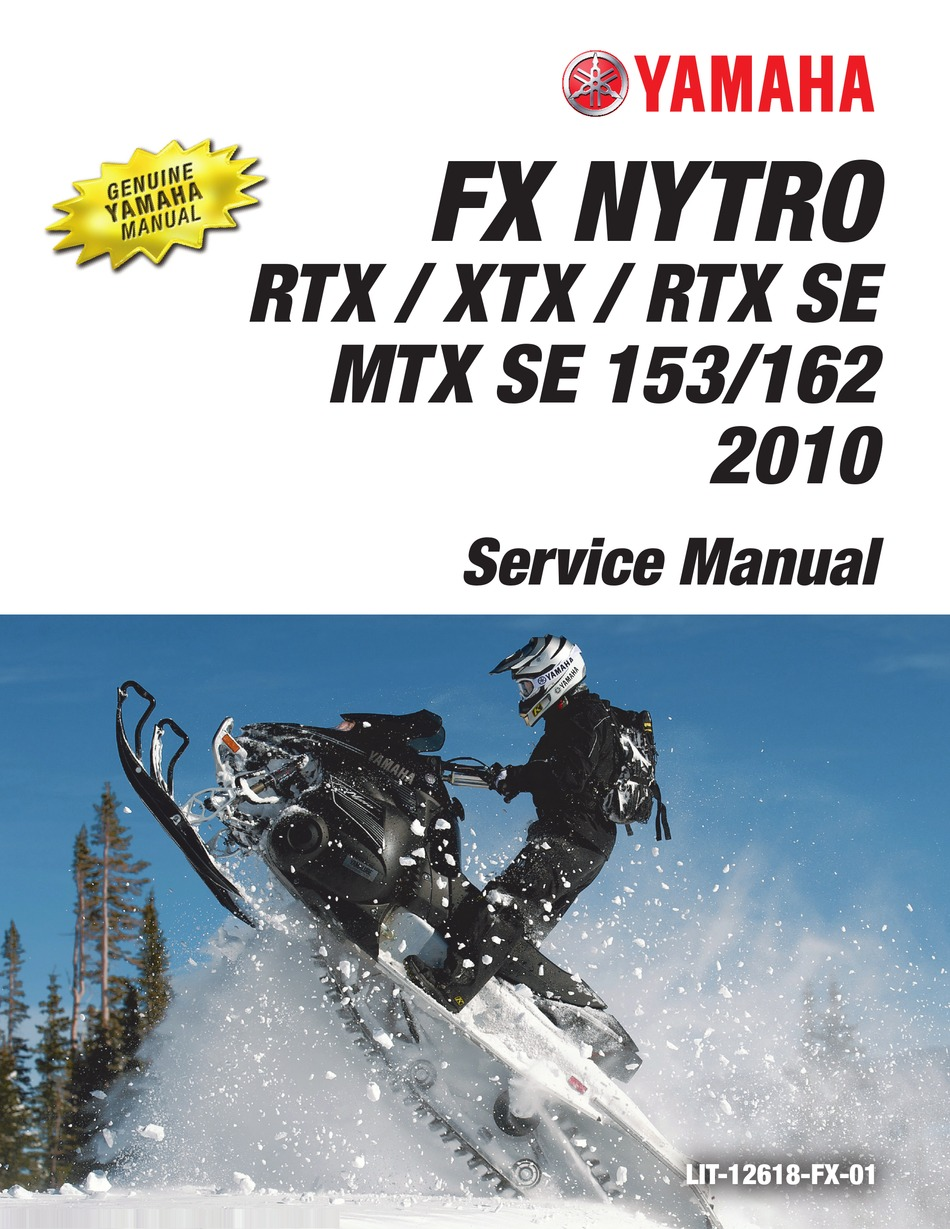 Yamaha 2010 Fx Nytro Fx10x Service Manual Pdf Download Manualslib