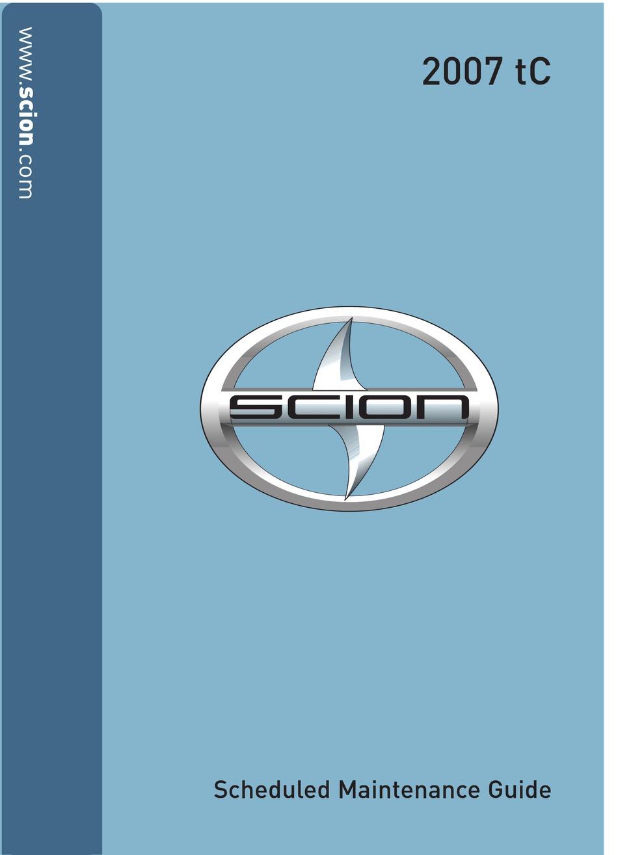 Pdf tc manual scion 2007 service 2007 SCION