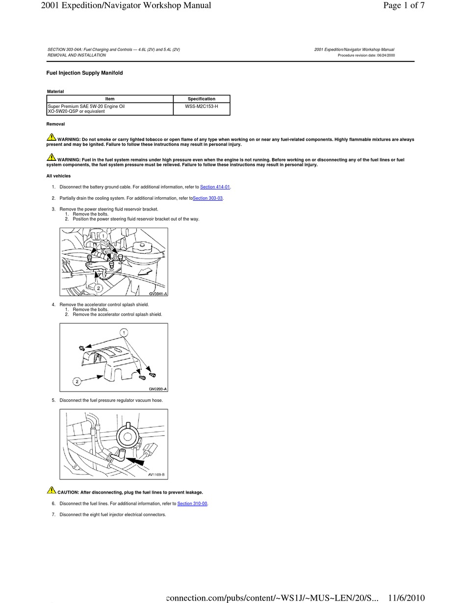 Ford Expedition 2001 Workshop Manual Pdf Download Manualslib