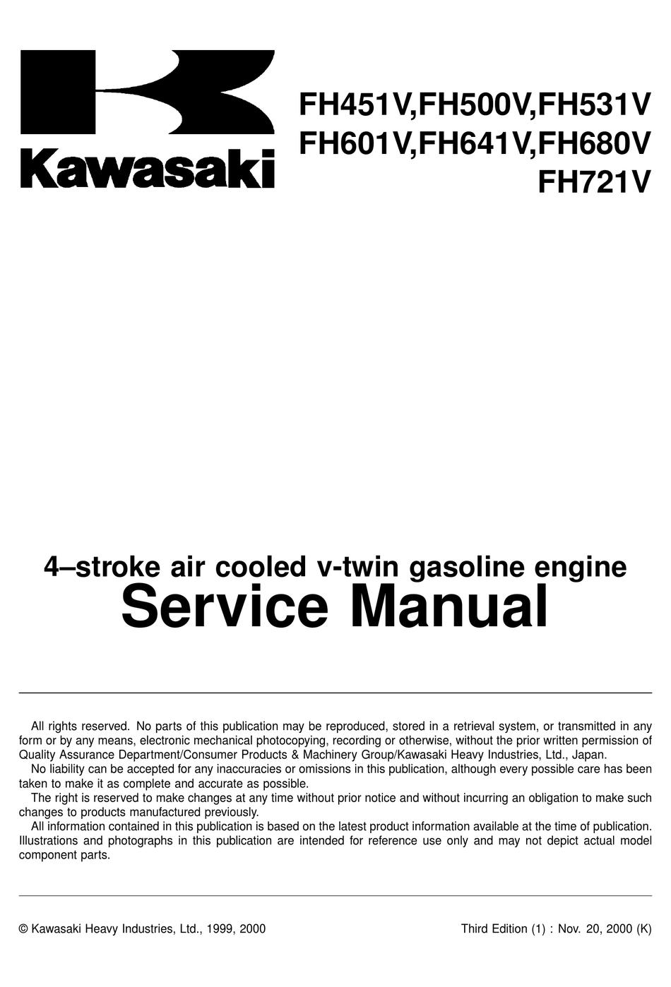 Kawasaki Fh451v Service Manual Pdf Download Manualslib