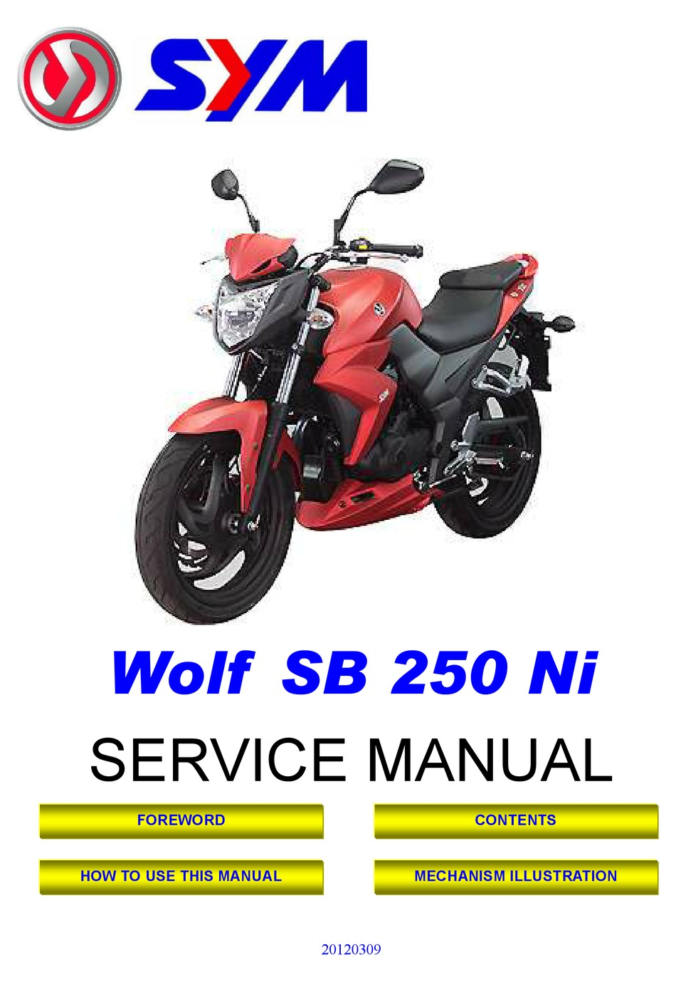 Sym Wolf Sb 250 Ni Service Manual Pdf Download Manualslib