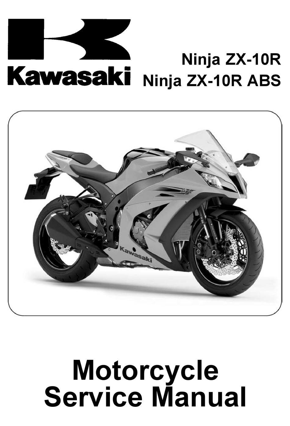 Kawasaki Ninja Zx 10r Service Manual Pdf Download Manualslib