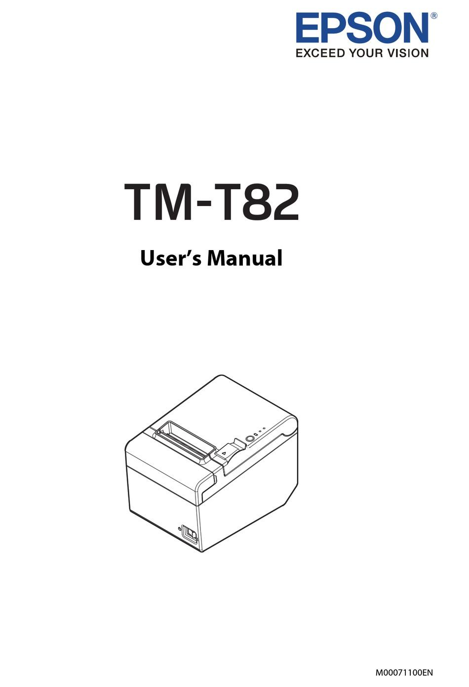 Epson Tm T82 User Manual Pdf Download Manualslib