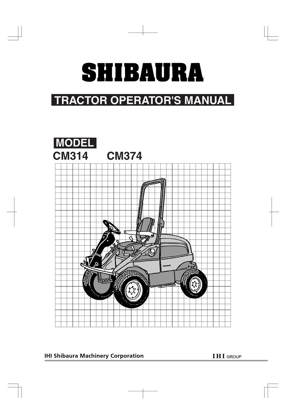 Shibaura Cm314 Operator S Manual Pdf Download Manualslib