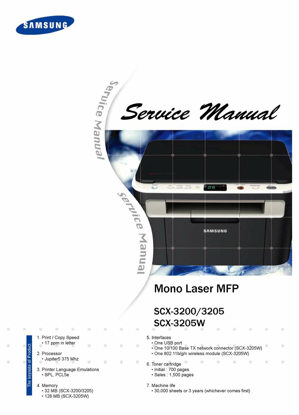 Samsung Scx 3205 Service Manual Pdf Download Manualslib