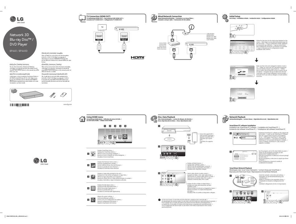 Lg Bp440 Simple Manual Pdf Download Manualslib