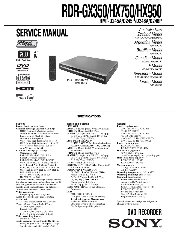Sony Rdr Gx350 Service Manual Pdf Download Manualslib