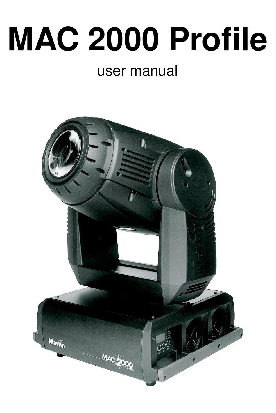 Mac 2000 profile manual