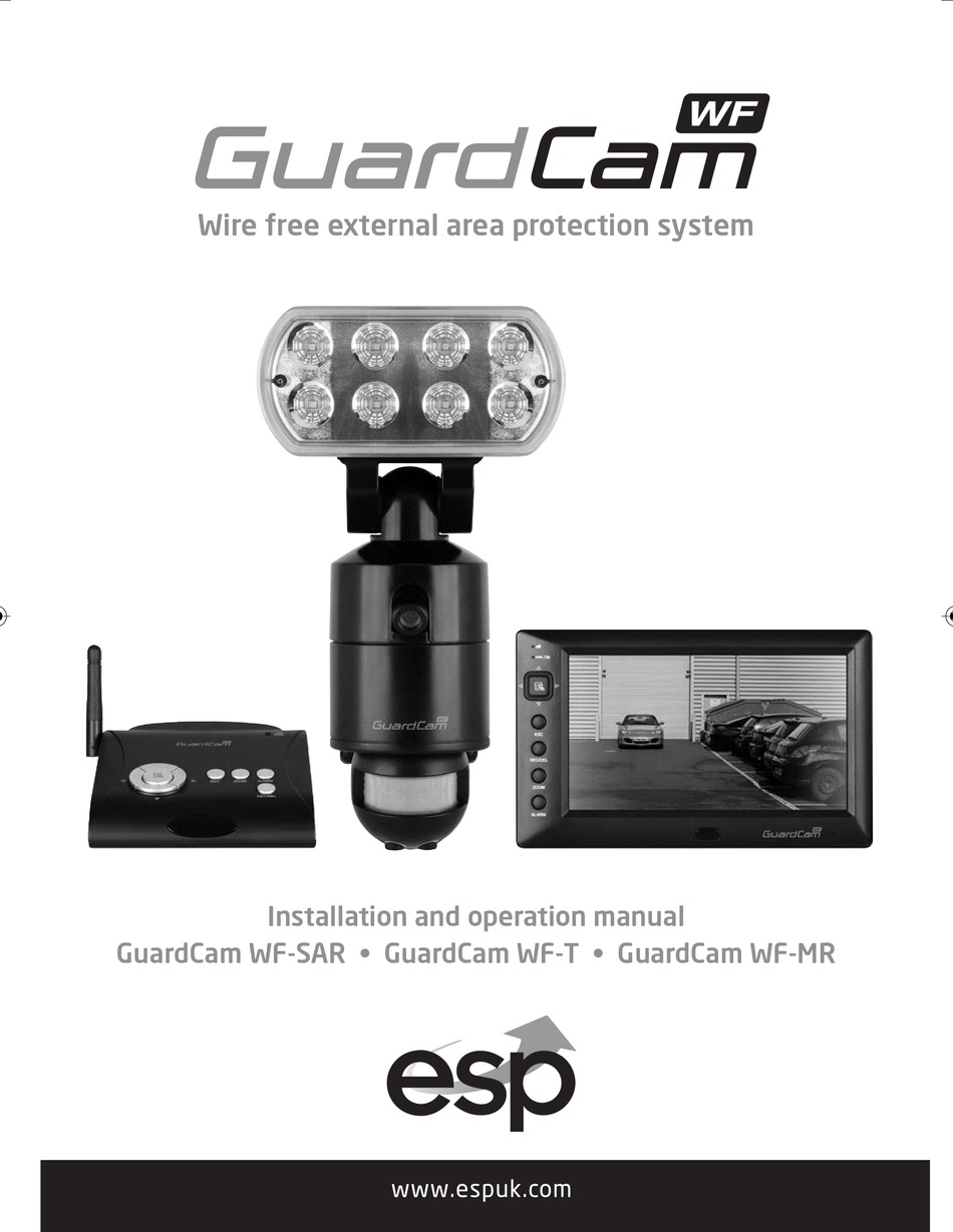 ESP Guard Cam WF-T Security Camera Monitor Safety PIR Transmitter Protection