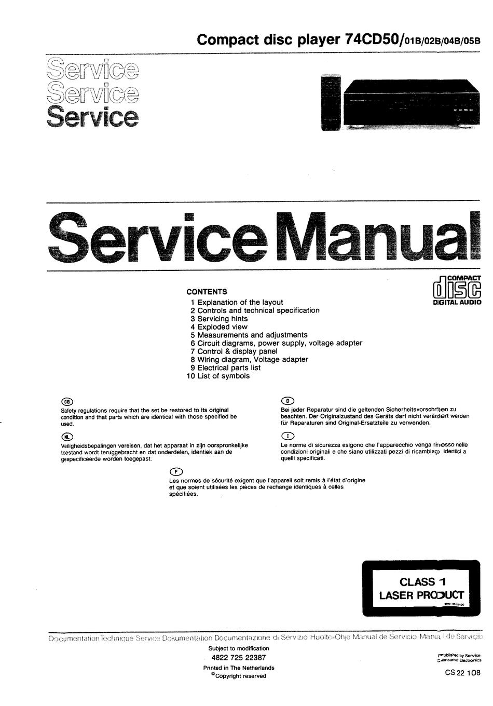 Marantz 74cd50 01b Service Manual Pdf Download Manualslib
