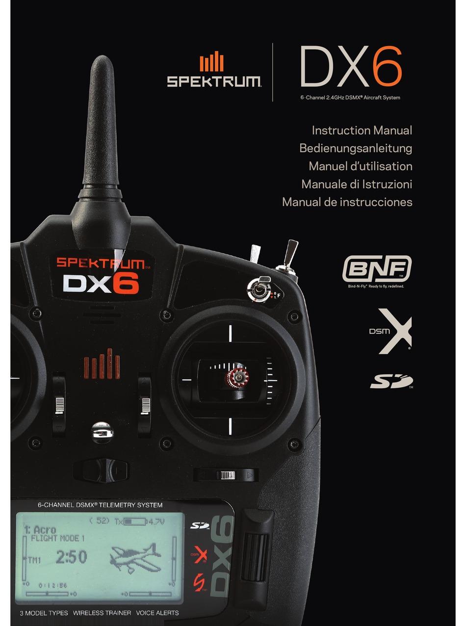 SPECTRUM DX6 INSTRUCTION MANUAL Pdf Download | ManualsLib | Spektrum Dx6 Rc Wiring Diagram |  | ManualsLib