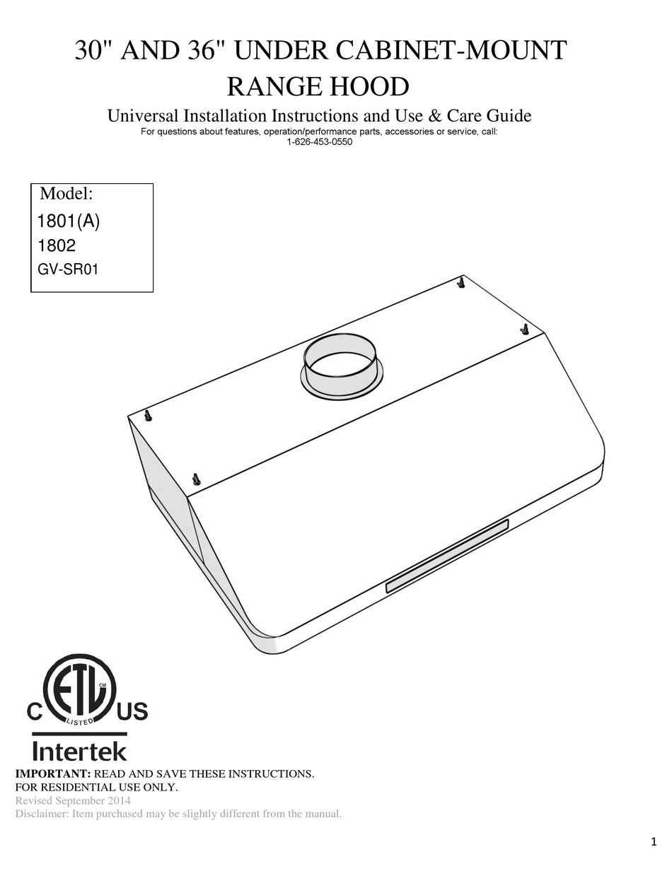 Golden Vantage 1801 A Installation Instructions Manual Pdf Download Manualslib