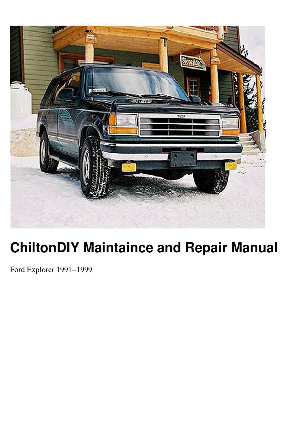 Ford Ranger Maintaince And Repair Manual Pdf Download Manualslib