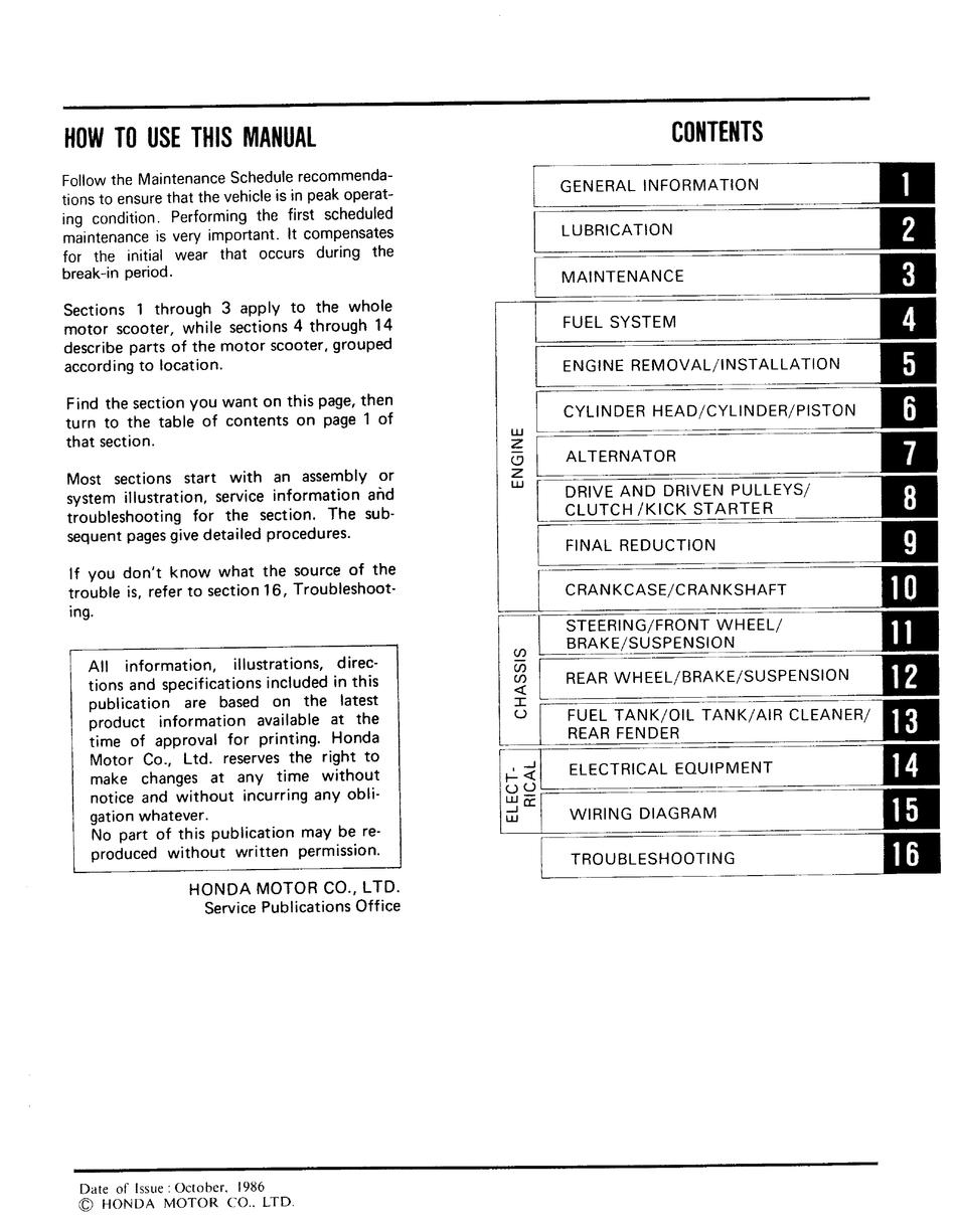 honda spree nq501 manual pdf download | manualslib  manualslib