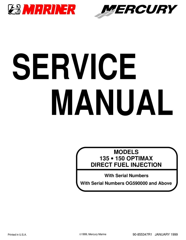 Mariner 135 Optimax Service Manual Pdf Download Manualslib