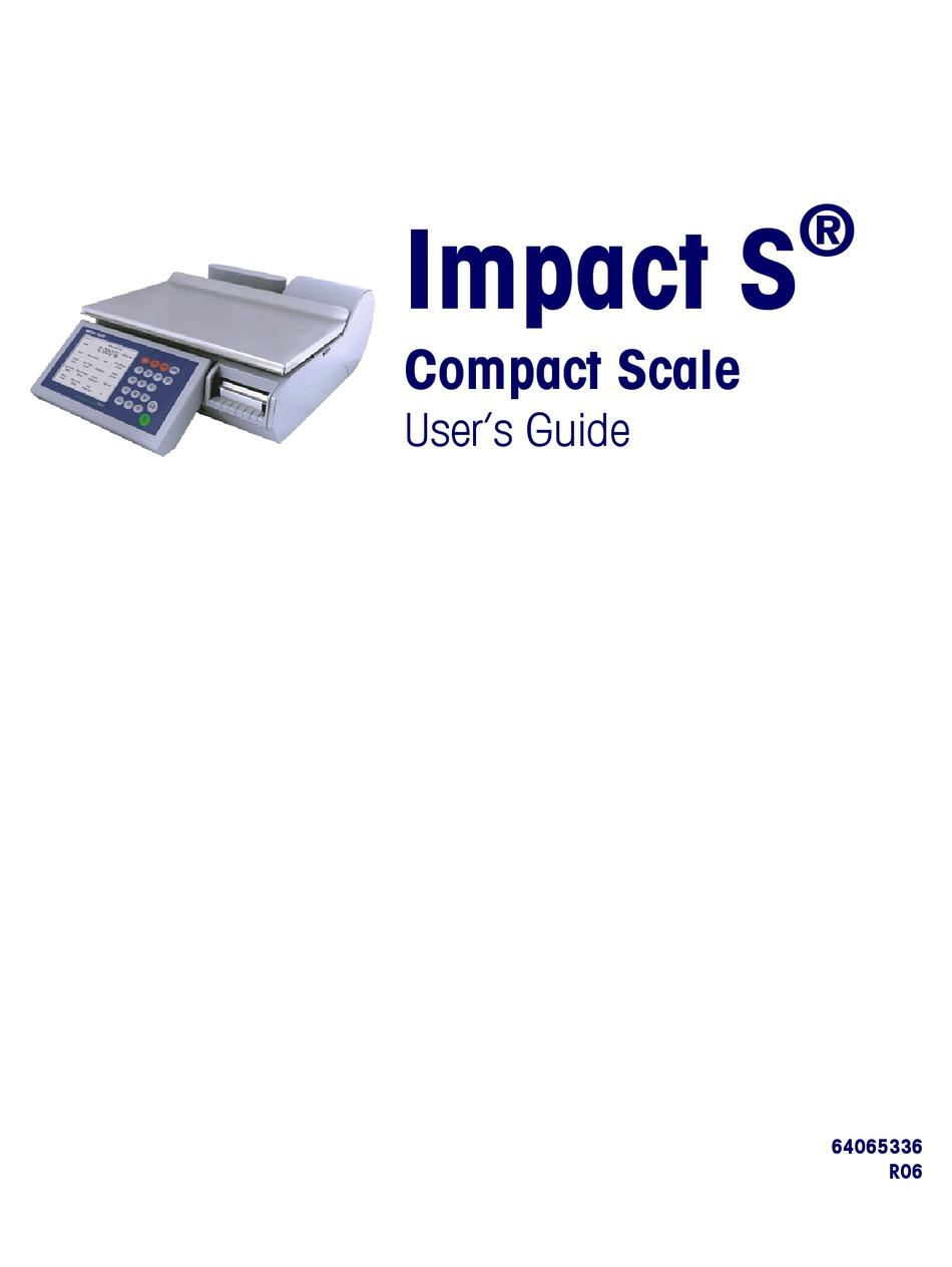 Mettler Toledo Impact S User Manual Pdf Download Manualslib