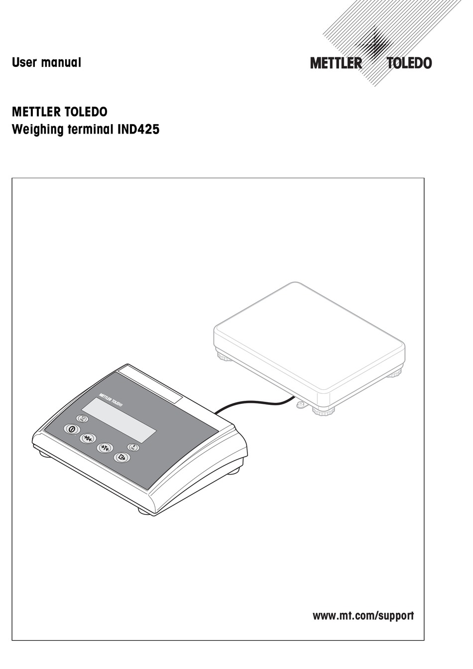 Mettler Toledo Ind425 User Manual Pdf Download Manualslib