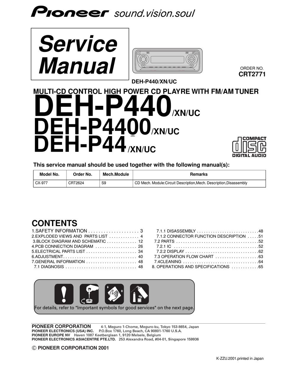 PIONEER DEH-P440 SERVICE MANUAL Pdf Download   ManualsLibManualsLib